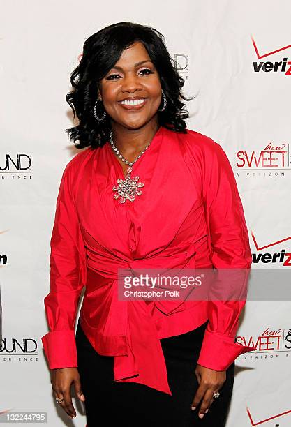 Singer CeCe Winans poses backstage during Verizon's How Sweet The Sound 2010 event at ORACLE Arena on October 9 2010 in Oakland California