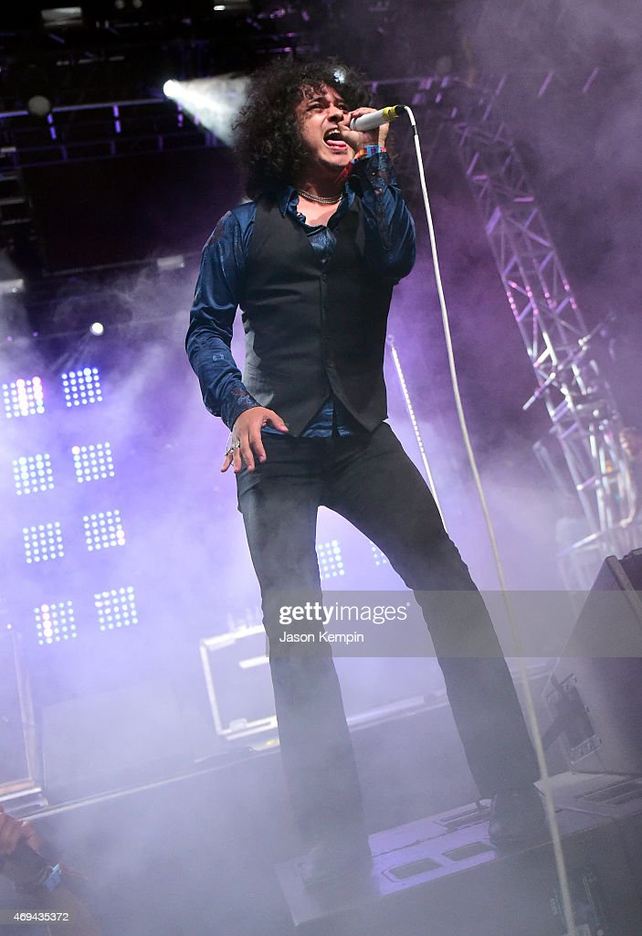 Singer Cedric Bixler-Zavala of Antemasque performs onstage during day 2 of the 2015 Coachella Valley Music & Arts Festival (Weekend 1) at the Empire Polo Club on April 11, 2015 in Indio, California.
