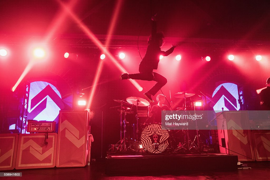Singer Cedric Bixler-Zavala of At The Drive In performs at Showbox SoDo on June 8, 2016 in Seattle, Washington.