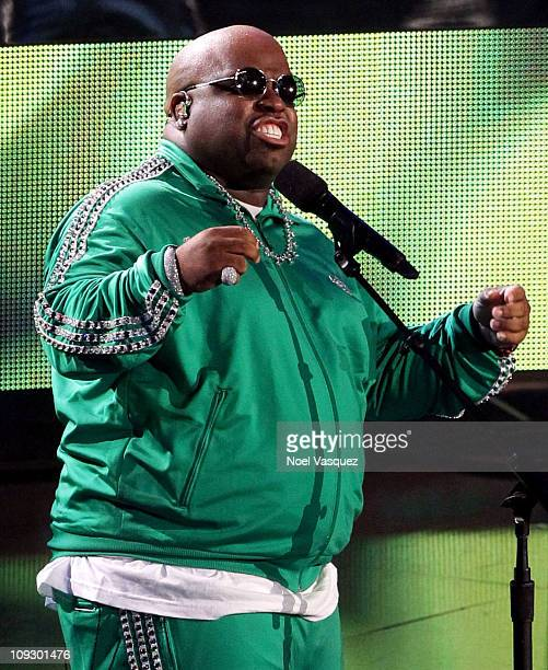 Singer Cee Lo Green performs during NBA AllStar Saturday night presented by State Farm at Staples Center on February 19 2011 in Los Angeles California