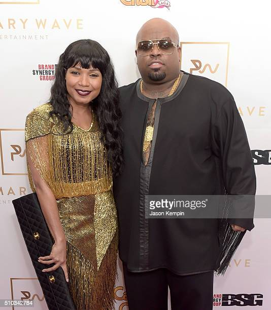 Singer CeeLo Green and Shani James attend the Primary Wave 10th Annual PreGrammy Party at The London West Hollywood on February 14 2016 in West...