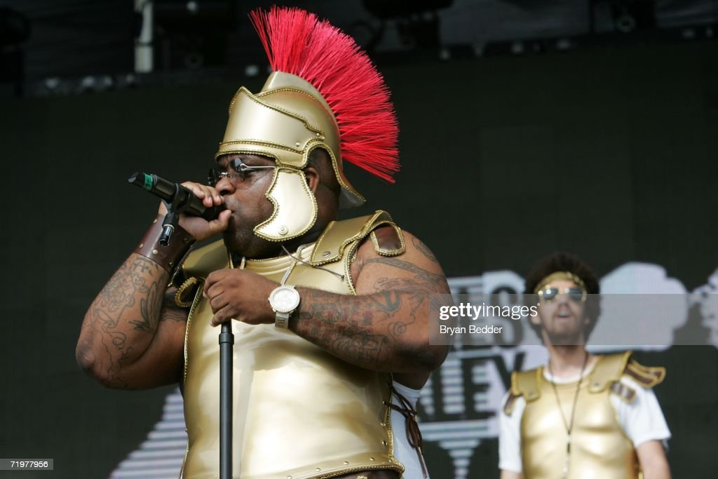 Singer Cee-Lo Green of The Gnarls Barkley collaboration performs onstage at the Virgin Festival by Virgin Mobile at Pimlico Race Course on September 23, 2006 in Baltimore, Maryland.