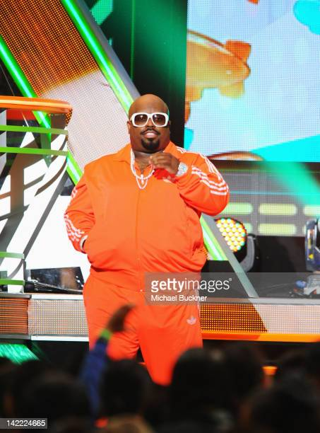 Singer CeeLo Green speaks onstage at Nickelodeon's 25th Annual Kids' Choice Awards held at Galen Center on March 31 2012 in Los Angeles California