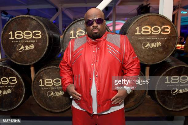 Singer CeeLo Green swings by the 1893 cocktail lounge during the LIFEWTR Art After Dark party at Club Nomadic during Super Bowl LI​ Weekend on...