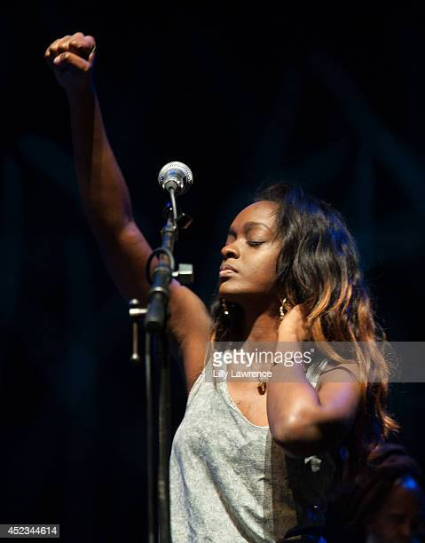 Singer Cegee Victory performs onstage at The Wailers Celebrate The 30th Anniversary Of Their Iconic Album Legend In Los Angeles at Saban Theatre on...