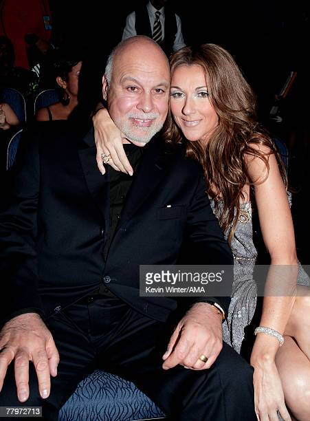 Singer Celine Dion and husband Rene Angelil in the audience during the 2007 American Music Awards held at the Nokia Theatre LA LIVE on November 18...