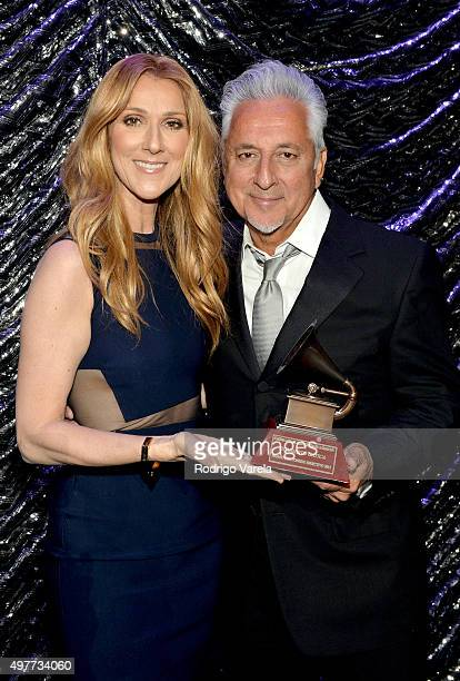 Singer Celine Dion and Lifetime Achievement recipient Humberto Gatica attend the 2015 Latin Recording Academy Special Awards during the 16th Latin...