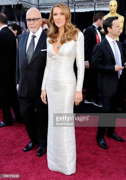 Singer Celine Dion and manager Rene Angelil arrive at the 83rd Annual Academy Awards held at the Kodak Theatre on February 27 2011 in Hollywood...