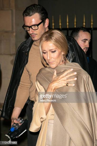 Singer Celine Dion and Pepe Munoz are seen on January 23 2019 in Paris France