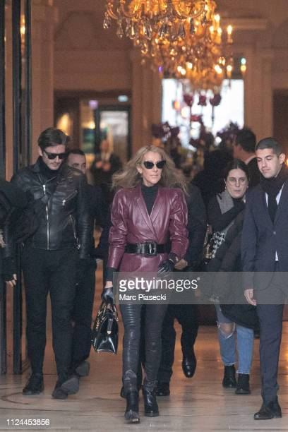 Singer Celine Dion and Pepe Munoz are seen on January 24 2019 in Paris France