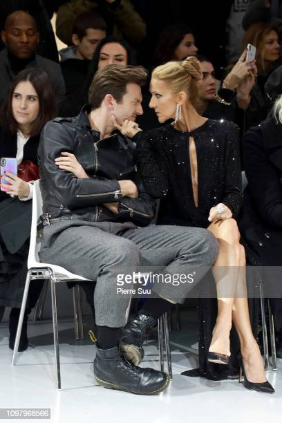 Singer Celine Dion and Pepe Munoz attend the Alexandre Vauthier Haute Couture Spring Summer 2019 show as part of Paris Fashion Week on January 22...