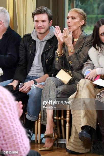 Singer Celine Dion and Pepe Munoz attend the RVDK Ronald Van Der Kemp Haute Couture Spring Summer 2019 show as part of Paris Fashion Week on January...