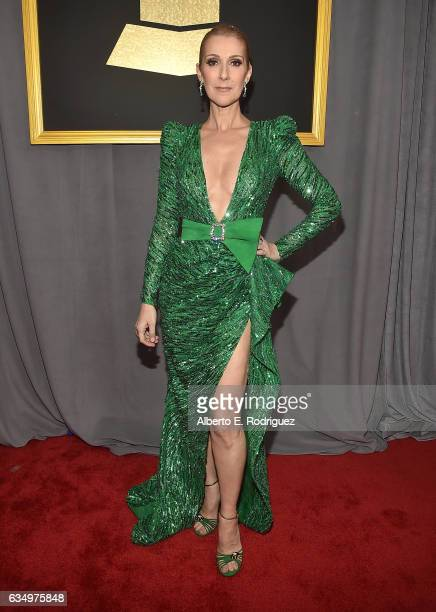 Singer Celine Dion attends The 59th GRAMMY Awards at STAPLES Center on February 12 2017 in Los Angeles California