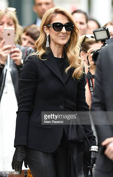 Singer Celine Dion attends the Christian Dior Haute Couture Fall/Winter 20162017 show as part of Paris Fashion Week on July 4 2016 in Paris France