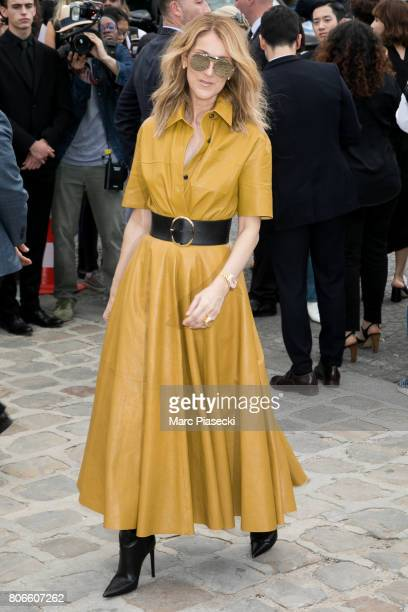 Singer Celine Dion attends the Christian Dior Haute Couture Fall/Winter 20172018 show as part of Paris Fashion Week on July 3 2017 in Paris France