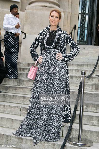 Singer Celine Dion attends the Giambattista Valli Haute Couture Fall/Winter 20162017 show as part of Paris Fashion Week on July 4 2016 in Paris France