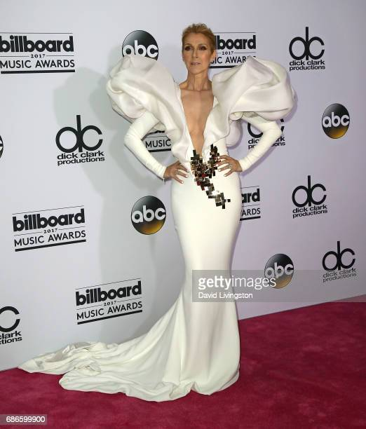 Singer Celine Dion attends the press room at the 2017 Billboard Music Awards at TMobile Arena on May 21 2017 in Las Vegas Nevada
