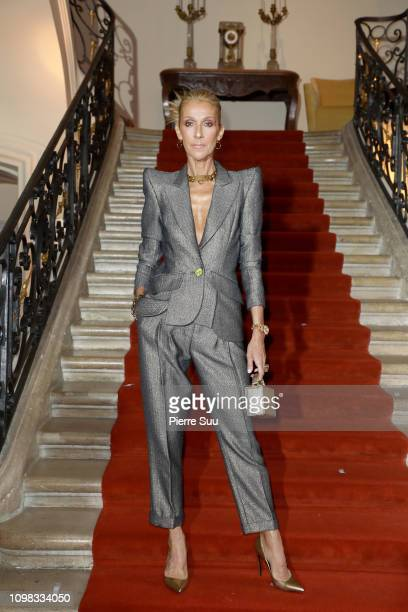 Singer Celine Dion attends the RVDK Ronald Van Der Kemp Haute Couture Spring Summer 2019 show as part of Paris Fashion Week on January 23 2019 in...