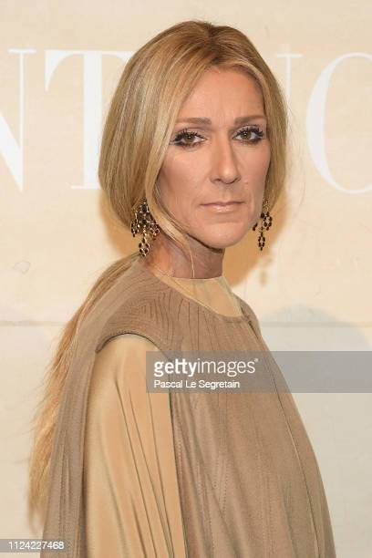Singer Celine Dion attends the Valentino Haute Couture Spring Summer 2019 show as part of Paris Fashion Week on January 23 2019 in Paris France