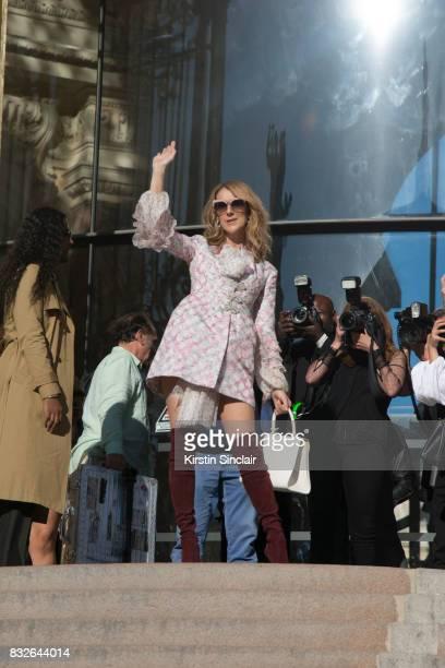 Singer Celine Dion day 2 of Paris Haute Couture Fashion Week Autumn/Winter 2017 on July 3 2017 in Paris France