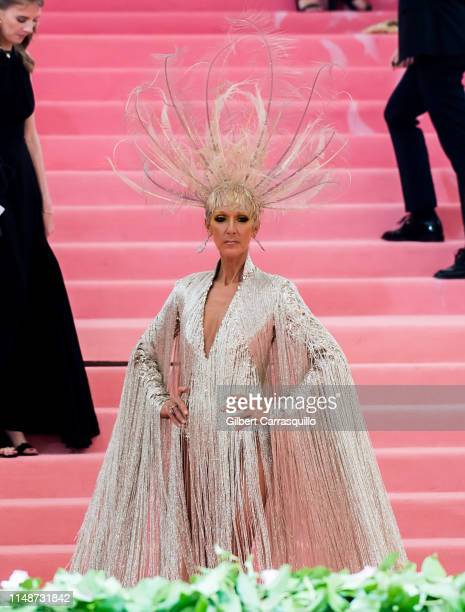 Singer Celine Dion is seen arriving to the 2019 Met Gala Celebrating Camp: Notes on Fashion at The Metropolitan Museum of Art on May 6, 2019 in New...