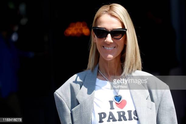 Singer Celine Dion is seen leaving her hotel in Paris France on July 3rd 2019