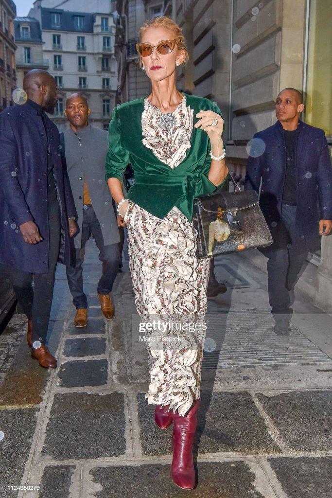 Celebrity Sightings in Paris - January 25 : News Photo