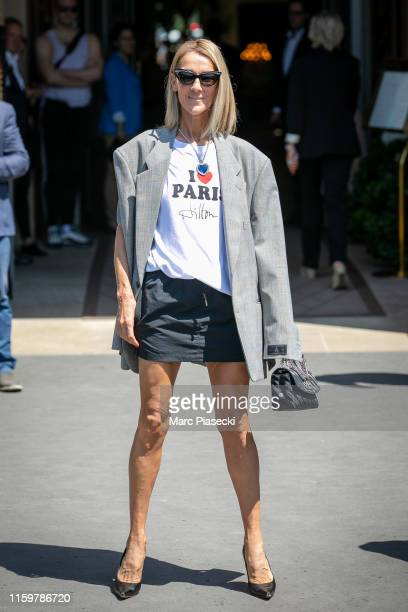 Singer Celine Dion is seen on July 03 2019 in Paris France