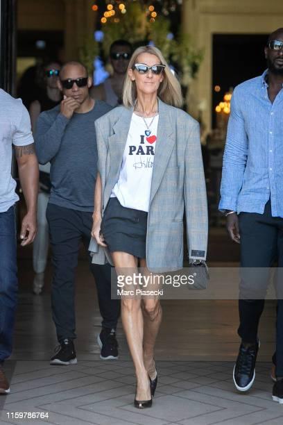 Singer Celine Dion is seen on July 03 2019 in Paris France