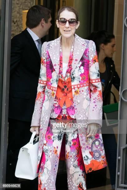 Singer Celine Dion is seen on June 14 2017 in Paris France
