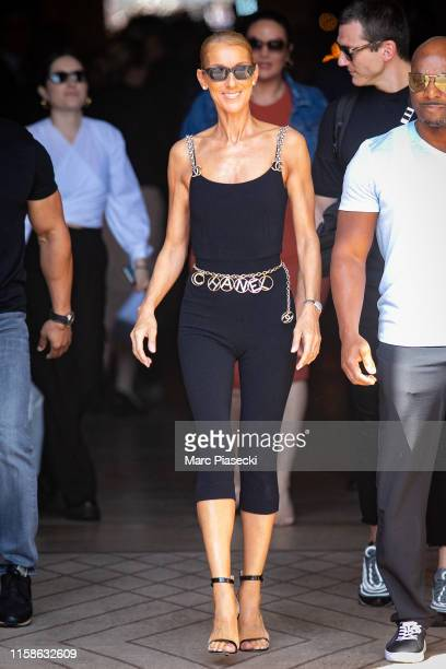 Singer Celine Dion is seen on June 27, 2019 in Paris, France.