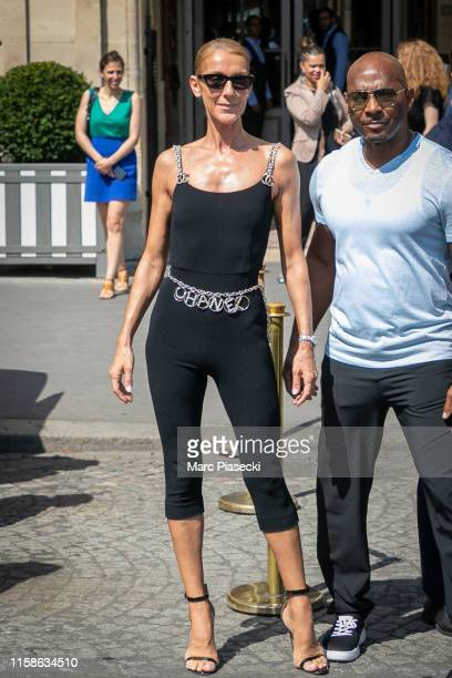 Singer Celine Dion is seen on June 27 2019 in Paris France