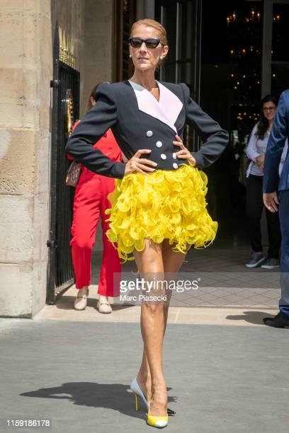 Singer Celine Dion is seen on June 30, 2019 in Paris, France.