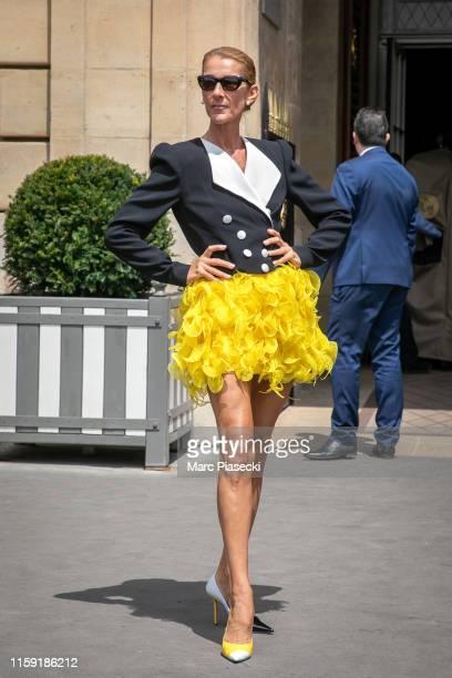 Singer Celine Dion is seen on June 30 2019 in Paris France