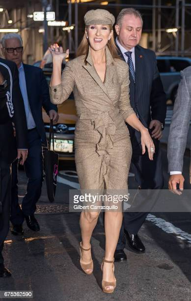 Singer Celine Dion is seen on the streets of Manhattan on April 30 2017 in New York City