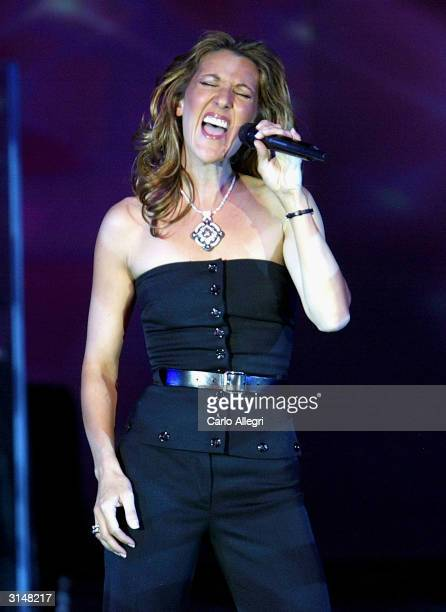 Singer Celine Dion perfoms at 'Celebrity Fight Night X' a charity event to raise money for the Muhammad Ali Parkinson Research Center at Barrow...