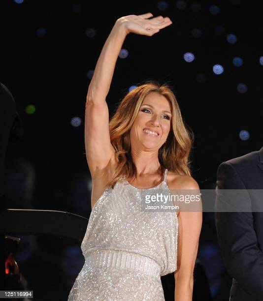 Singer Celine Dion performs at Central Park Great Lawn on September 15 2011 in New York City