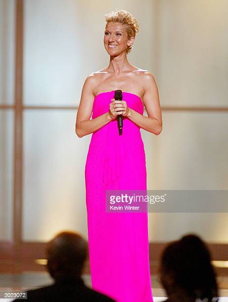 Singer Celine Dion performs at the VH1 Divas Duets a concert to benefit the VH1 Save the Music Foundation held at the MGM Grand Garden Arena on May...