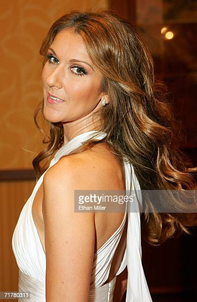 Singer Celine Dion poses backstage after she performed at the 41st annual Labor Day Telethon to benefit the Muscular Dystrophy Association at the...
