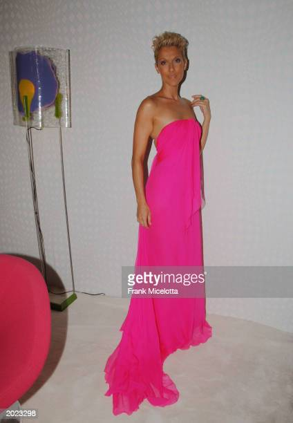 Singer Celine Dion poses backstage at the VH1 Divas Duets a concert to benefit the VH1 Save the Music Foundation held at the MGM Grand Garden Arena...