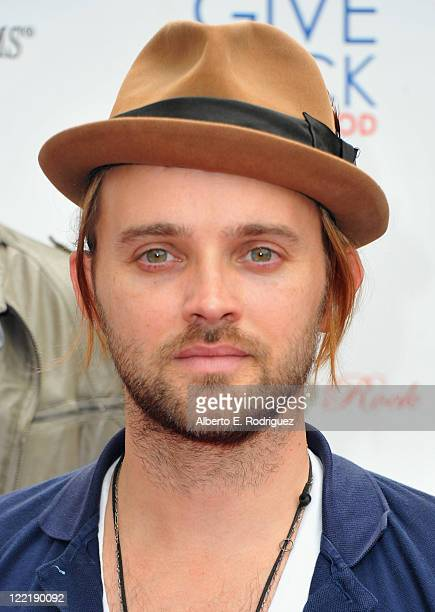Singer Chad Wolf attends the Give Back Hollywood Foundation's benefit for VH1 Save the Music Foundation on August 26 2011 in Los Angeles California