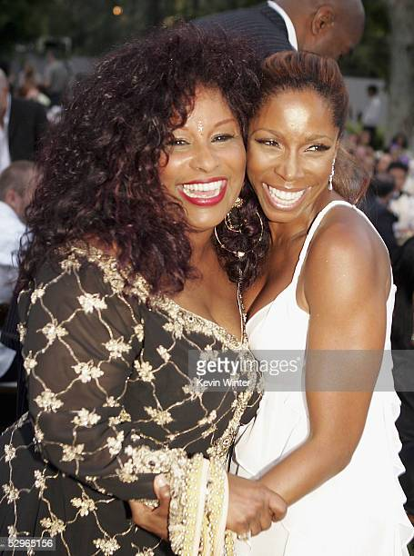 Singer Chaka Khan And Actress A J Johnson Pose At The 2nd Annual Gala Dinner Benefiting The
