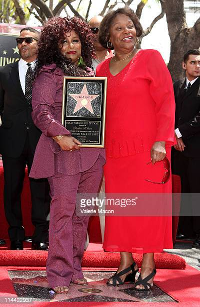 Singer Chaka Khan and mother Sandra Coleman attends her Hollywood Walk Of Fame Induction Ceremony on May 19 2011 in Hollywood California