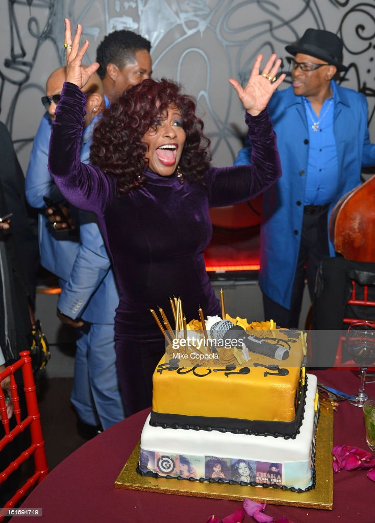 Singer Chaka Khan attends Chaka Khan's Birthday Party on March 26, 2013 in New York City.