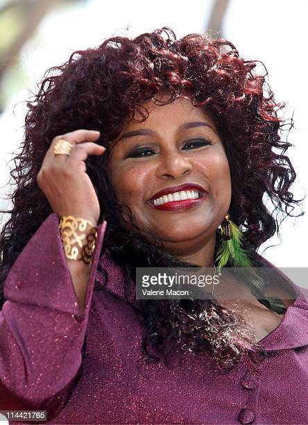 Singer Chaka Khan attends her Hollywood Walk Of Fame Induction Ceremony on May 19 2011 in Hollywood California