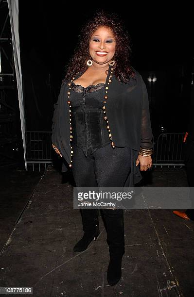 Singer Chaka Khan attends the Diesel xXx Rock Roll Circus at Pier 3 on October 11 2008 in Brooklyn New York