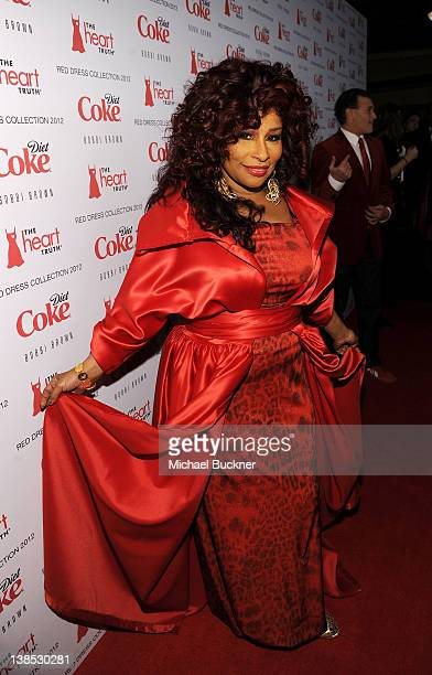Singer Chaka Khan attends the Heart Truth's Red Dress Collection 2012 Fashion Show at Hammerstein Ballroom on February 8 2012 in New York City