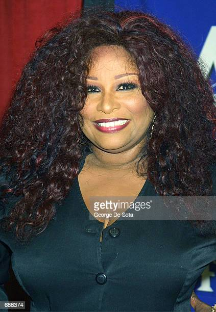 Singer Chaka Khan attends the radio station KTUs Fourth Annual Miracle on 34th Street concert December 18, 2001 at Madison Square Garden in New York...