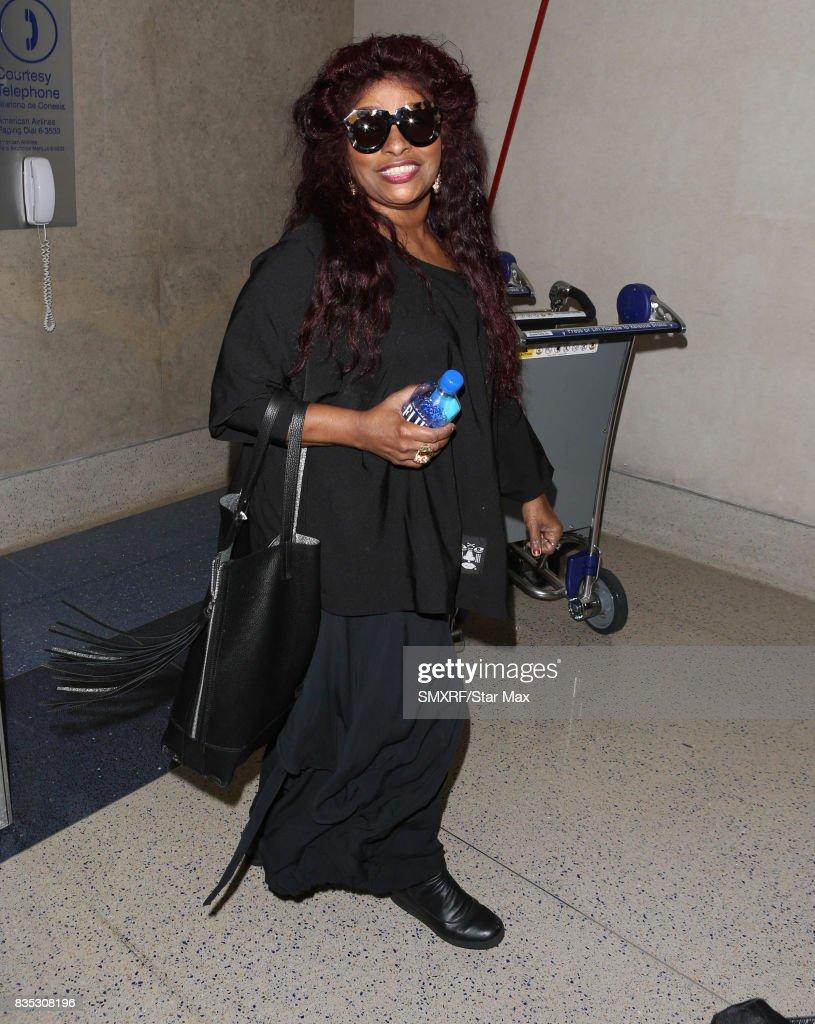 Singer Chaka Khan is seen on August 18, 2017 in Los Angeles, California