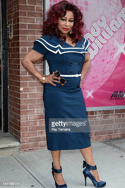 Singer Chaka Khan leaves the Wendy Williams Show taping at the AMV Studios on June 26 2012 in New York City